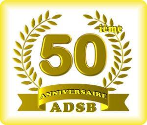 Logo du cinquantenaire de l'ADSB